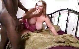 Big old mom fucked by bbc get cum on her big breast
