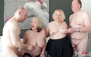 Busty mature ladies enjoying hard cock of wild horny guys