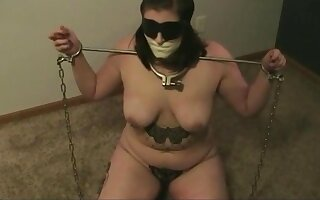 This cheeky slut named Megan tried to escape when I tied her up.