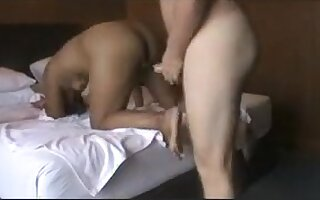 Overweight oriental butt screwed and eats cum