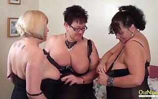 OldNannY Pansy Trisha Threesome Lesbian Federate Masturbation