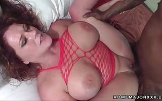 I like it big and ebony - BBW with big natural tits nailed wide of monster cock fro amateur interracial