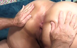 Hot n horny BBWs enjoy their plump pussies acquiring fucked outlander behind in doggy style