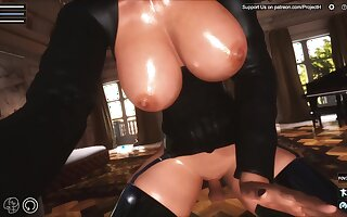 Hot cartoon 3d MILF kinky porn peel