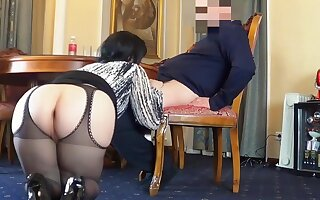 Horny Anal Mom - Amateur fat ass wife beside hardcore alongside cumshot