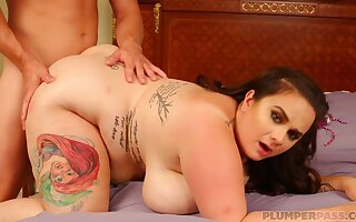 Big lady exciting extremely hot clip